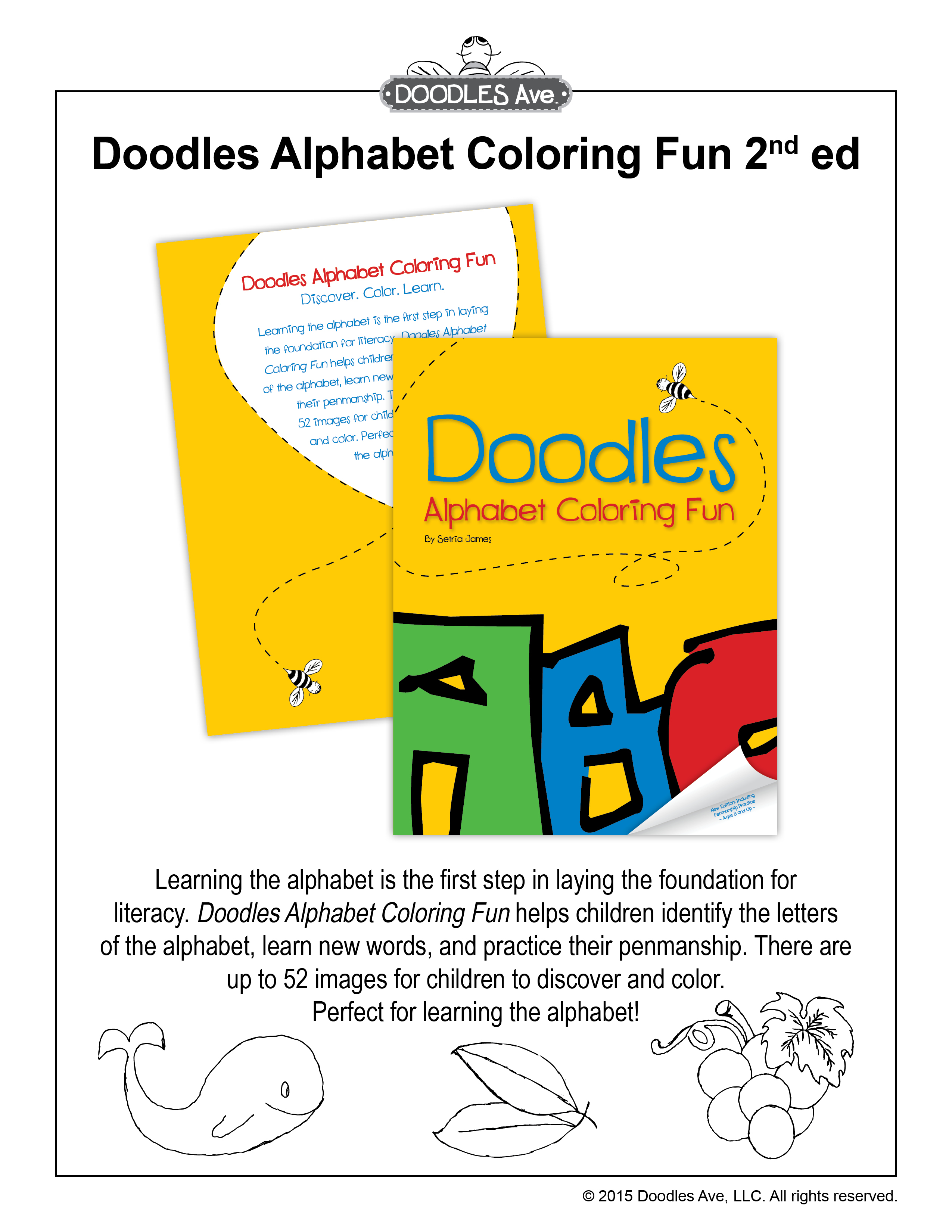 Click To Preview Doodles Alphabet Coloring Fun 2nd Ed