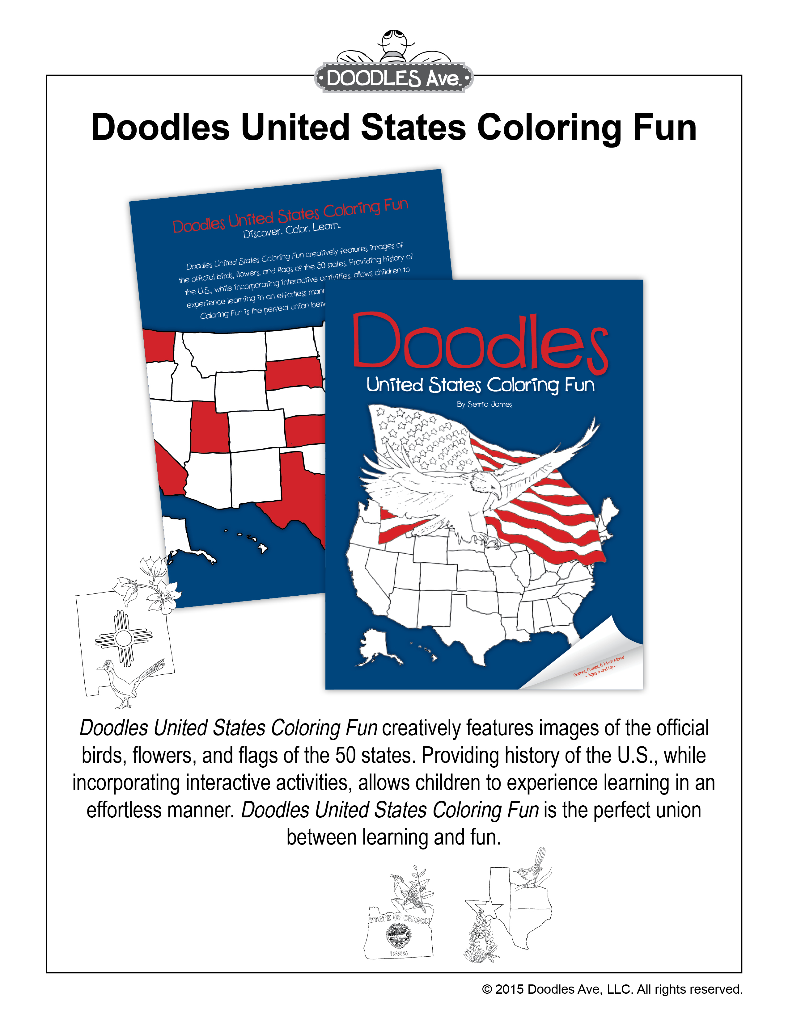 Click To Preview Doodles United States Coloring Fun